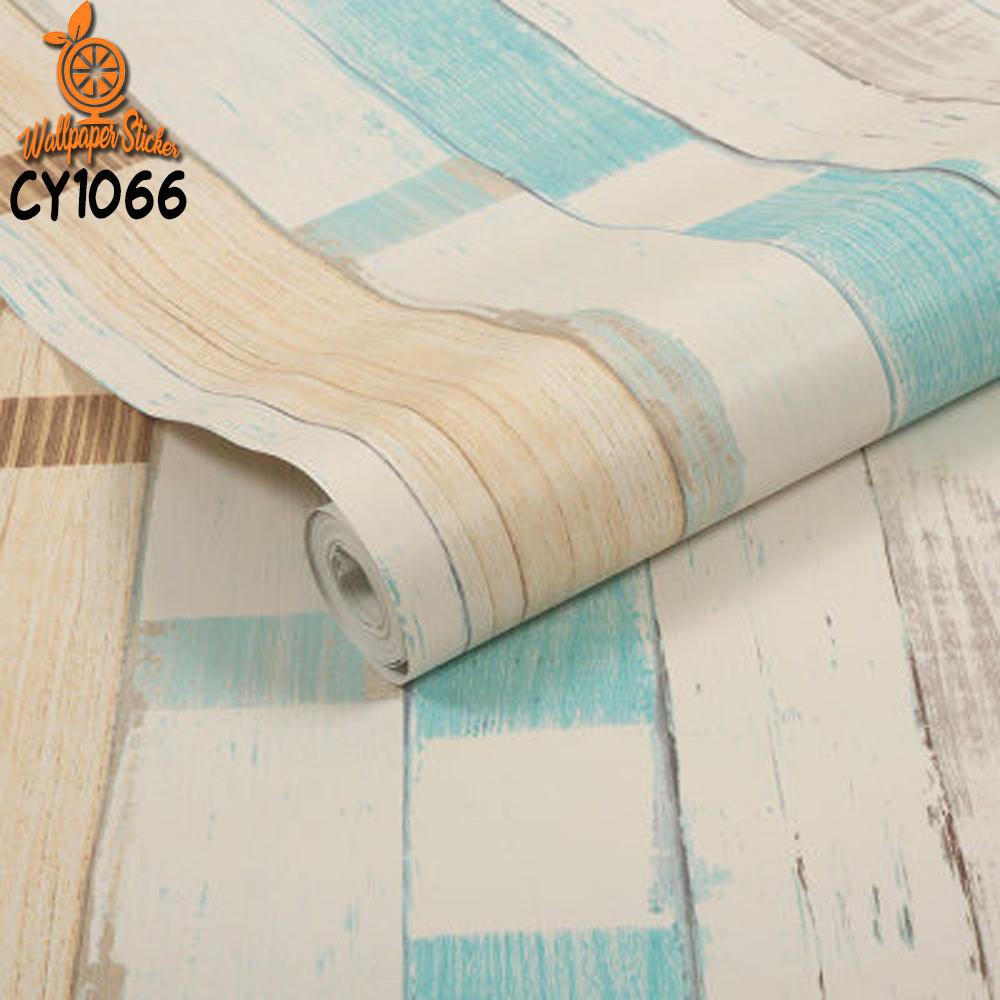 wallpaper sticker dinding motif kayu salur
